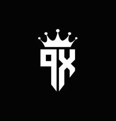 px logo monogram emblem style with crown shape vector image
