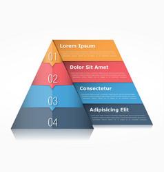 Pyramid Infographics vector