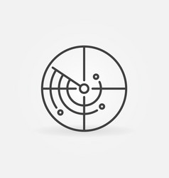 Radar or scan concept round linear icon vector