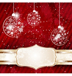Red Bauble Background vector