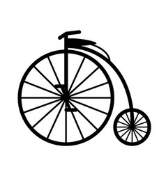 retro bicycle black silhouette vector image