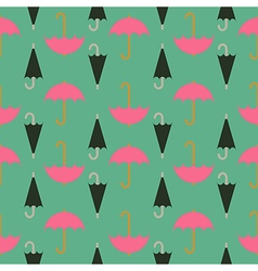 Retro seamless pattern of umbrella vector