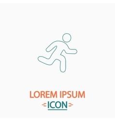 Running computer symbol vector