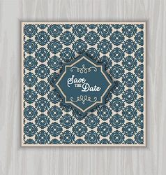 Save the date invitation 1403 vector