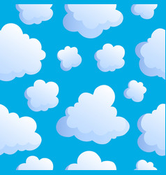 Seamless background with clouds 2 vector