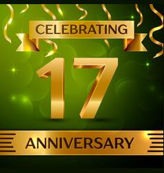 Seventeen years anniversary celebration design vector