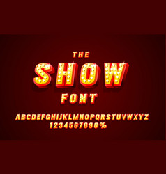 show font set collection letters and numbers vector image