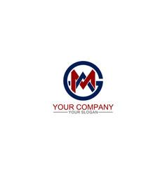 Simple geometric initial amg logo template vector