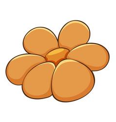 Single flower in orange color vector