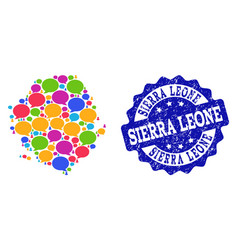 Social network map of sierra leone with talk vector