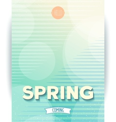Spring abstract design poster vector