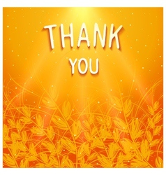 Thank you background design vector