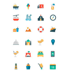 Travel Colored Icons 1 vector