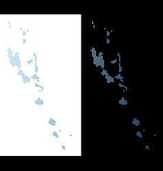 Vanuatu islands map hex tile mosaic vector