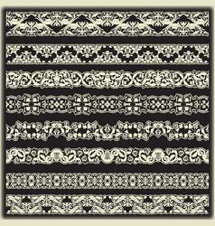 vintage border set for design vector image
