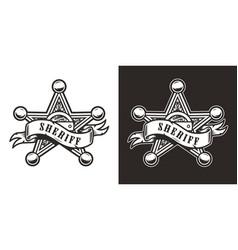 Vintage sheriff badge star vector