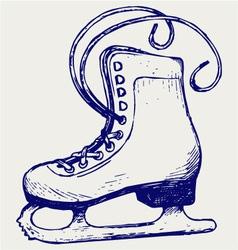 White skates vector image
