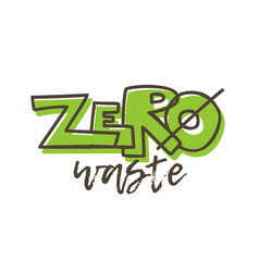 zero waste banner with lettering vector image