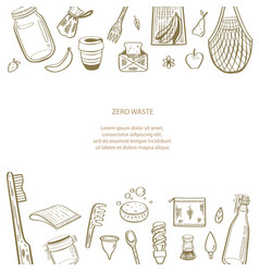 zero waste hand drawn infographic vector image
