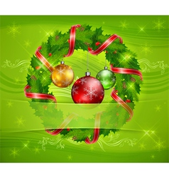 christmas ornament holy wreath 10 v vector image vector image