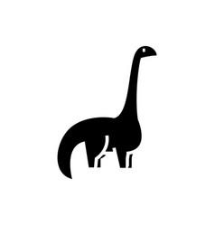 dinosaur - diplodocus icon vector image