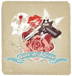 gun rose vector image