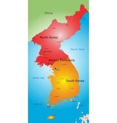 Koreas countries vector image vector image