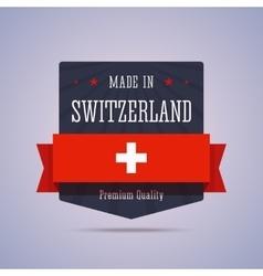 Made in Switzerland badge vector image vector image