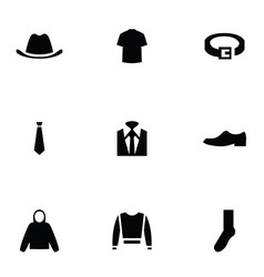 man wear 9 icons set vector image