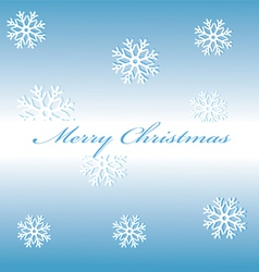 Merry Christmas snowflakes on a blue background vector image vector image