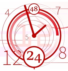 abstract background with clock vector image