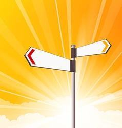 blank destination signs vector image vector image
