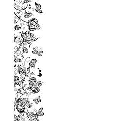 Floral stripe vector image