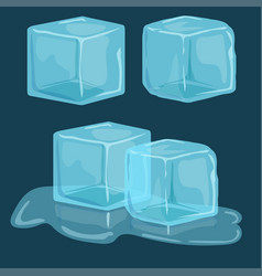 ice cubes set vector image vector image