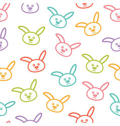 Seamless pattern with colorful bunnies vector image vector image