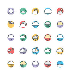 Weather Cool Icons 1 vector image vector image