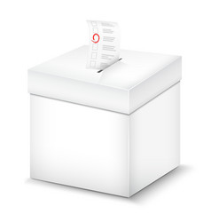 Ballot Box Isolated On White vector image