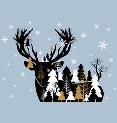christmas concept design vector image vector image
