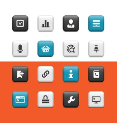 Internet and web buttons vector image