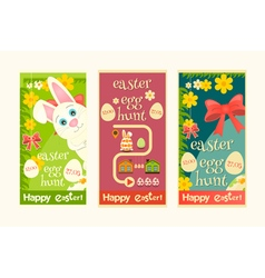 Easter Invitation Cards set vector image vector image