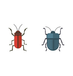 insects flat style design icons collection vector image vector image