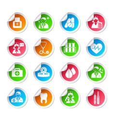 Medical healthcare icon stickers vector image vector image