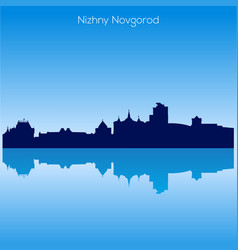 skyline of nizhnij novgorod russia vector image vector image