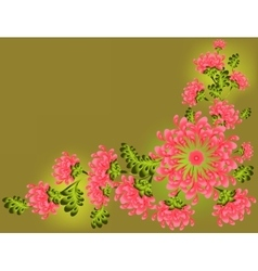 The pattern of pink flowers and leaves EPS10 vector image vector image