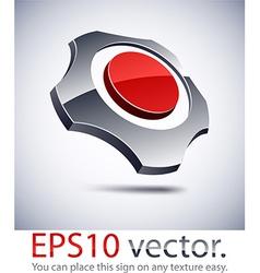 3D modern gear logo icon vector