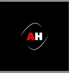 A h letter logo creative design on black color vector