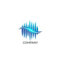 Audio wave spectrum visual logo sharp spectrum vector