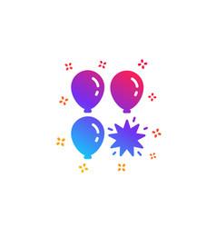 Balloon dart icon amusement park sign vector