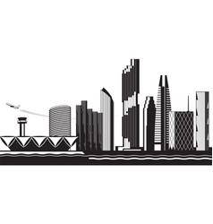 bangkok cityscape day vector image