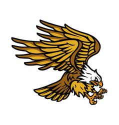 big flying eagle vintage concept vector image